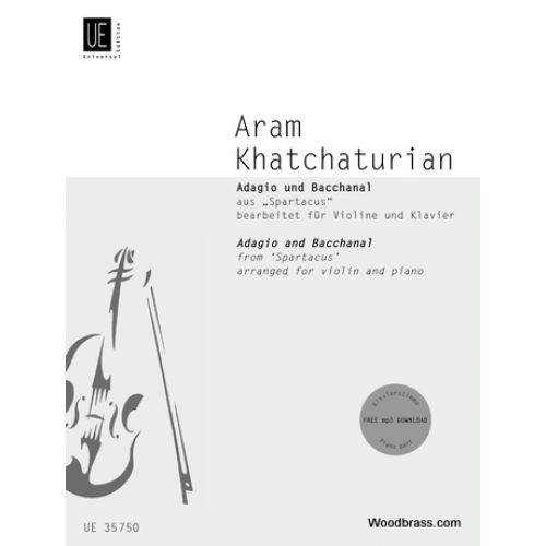 UNIVERSAL EDITION KHATCHATURIAN A. - ADAGIO AND BACCHANAL FROM