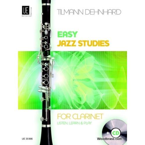 UNIVERSAL EDITION DEHNHARD T. - EASY JAZZ STUDIES - CLARINET + CD