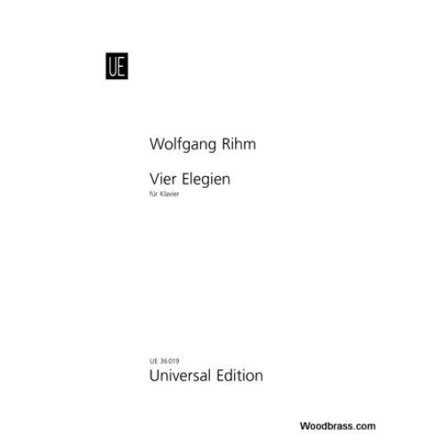 UNIVERSAL EDITION RIHM W. - VIER ELEGIEN - PIANO