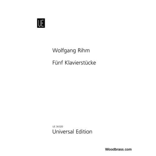 UNIVERSAL EDITION BERIO L. - RIHM W. - FÜNF KLAVIERSTÜCKE