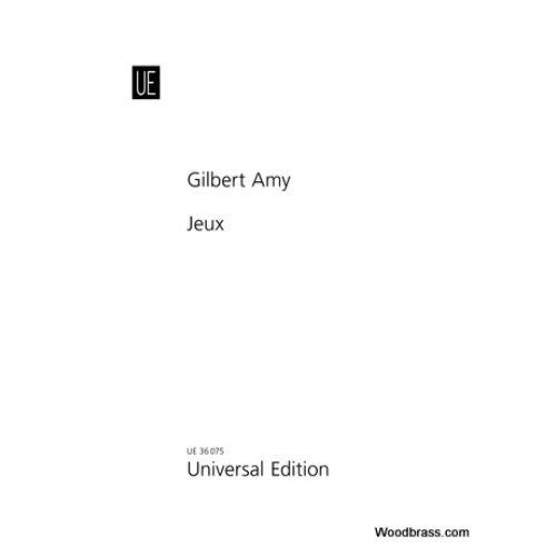 UNIVERSAL EDITION AMY G. - JEUX - SAXOPHONE SOPRANO