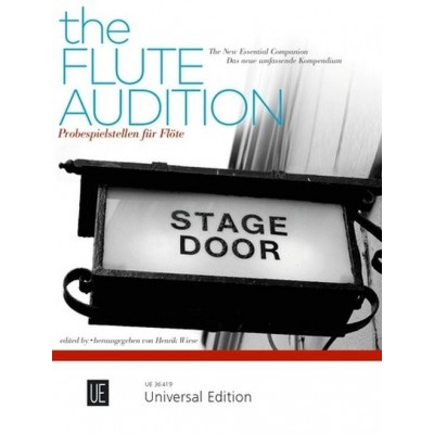 UNIVERSAL EDITION HENRIK WIESE - THE FLUTE AUDITION