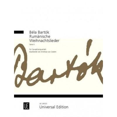 Weihnachtslieder International.Universal Edition Bartok Bela Rumanische Weihnachtslieder Serie Ii Saxophone Quartet