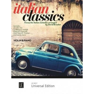 UNIVERSAL EDITION ITALIAN CLASSICS FOR VIOLIN & PIANO