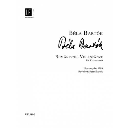 UNIVERSAL EDITION BARTOK B. - RUMANIAN FOLK DANCES - PIANO