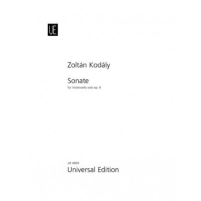 UNIVERSAL EDITION KODALY ZOLTAN - SONATE FÜR VIOLONCELLO SOLO OP.8