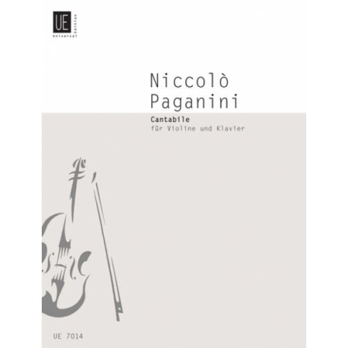 UNIVERSAL EDITION PAGANINI N. - CANTABILE D MAJOR - VIOLON, PIANO