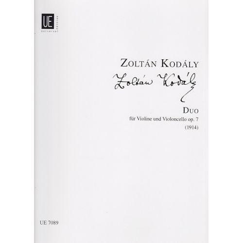 UNIVERSAL EDITION KODALY Z. - DUO OP. 7 - VIOLON ET VIOLONCELLE