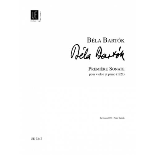 UNIVERSAL EDITION BARTOK B. - PREMIÈRE SONATA - VIOLIN AND PIANO