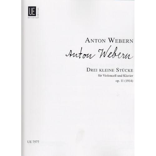 UNIVERSAL EDITION WEBERN ANTON - DREI KLEINE STÜCKE OP.11 (1914)