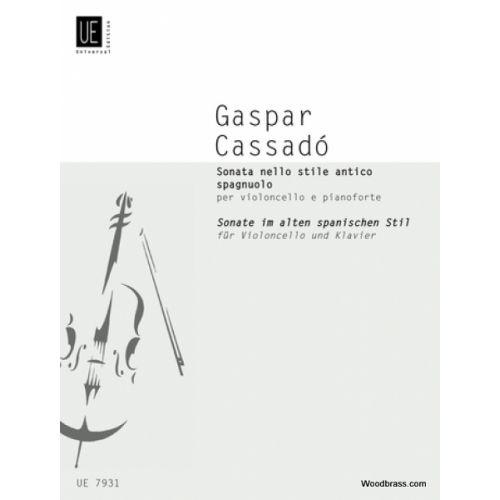 UNIVERSAL EDITION CASSADO GASPAR - SONATA - CELLO AND PIANO