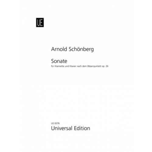 UNIVERSAL EDITION SCHONBERG ARNOLD - SONATE - CLARINET AND PIANO