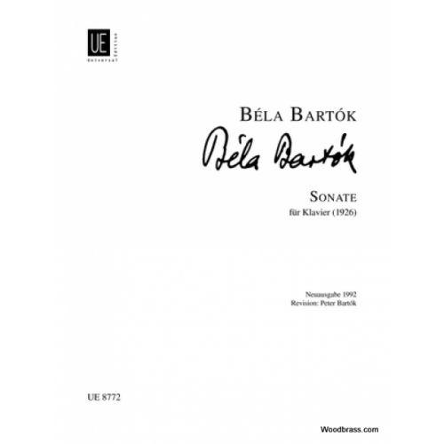 UNIVERSAL EDITION BARTOK BELA - SONATE FÜR KLAVIER