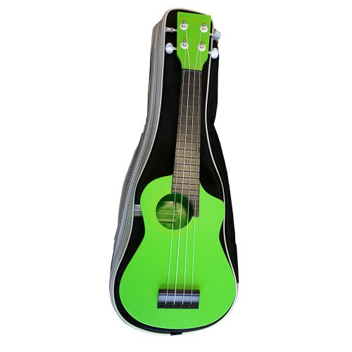 AQUALELE GREEN SOPRANO MODEL SCHWARZ FINGERBOARD