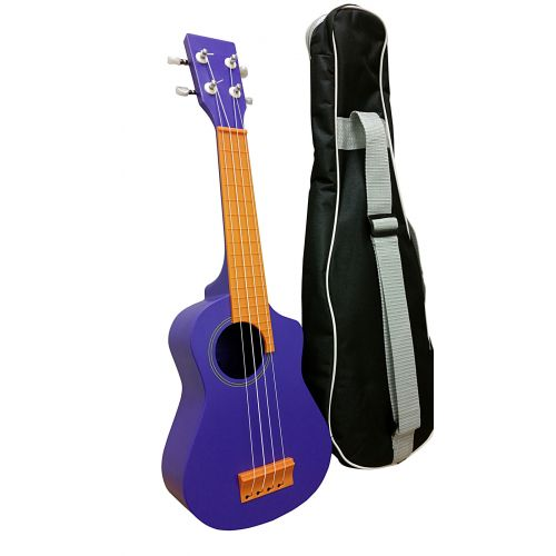 AQUALELE PURPLE SOPRANO MODEL ORANGE FINGERBOARD