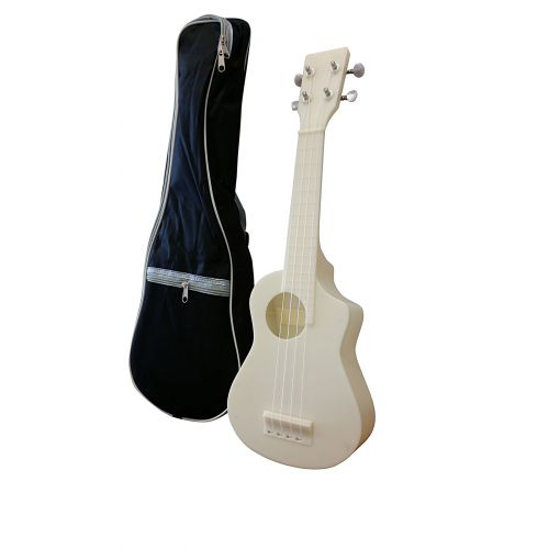 AQUALELE WHITE SOPRANO MODEL WHITE FINGERBOARD