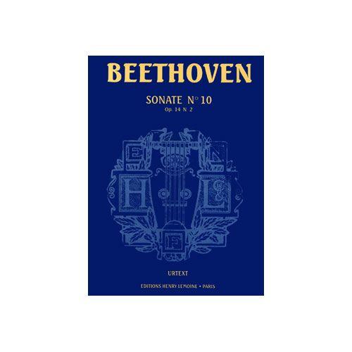 LEMOINE BEETHOVEN LUDWIG VAN - SONATE N°10 - PIANO