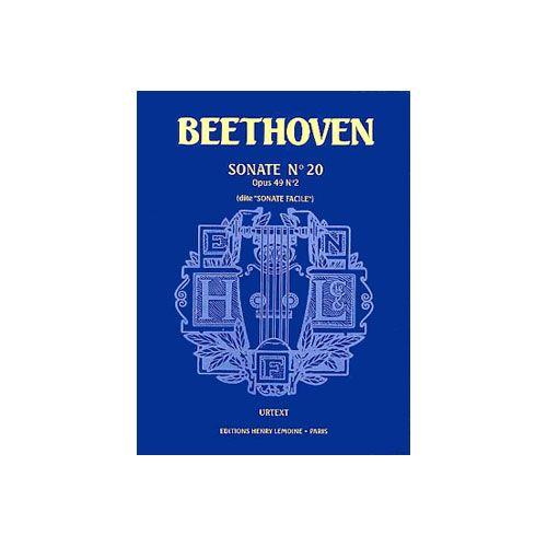 LEMOINE BEETHOVEN LUDWIG VAN - SONATE N°20 OP.49 N°2 FACILE - PIANO