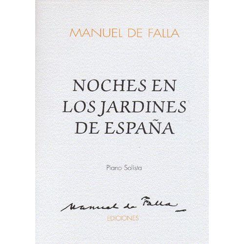 MUSIC SALES MANUEL DE FALLA - NOCHES EN LOS JARDINES DE ESPANA - FULL SCORE