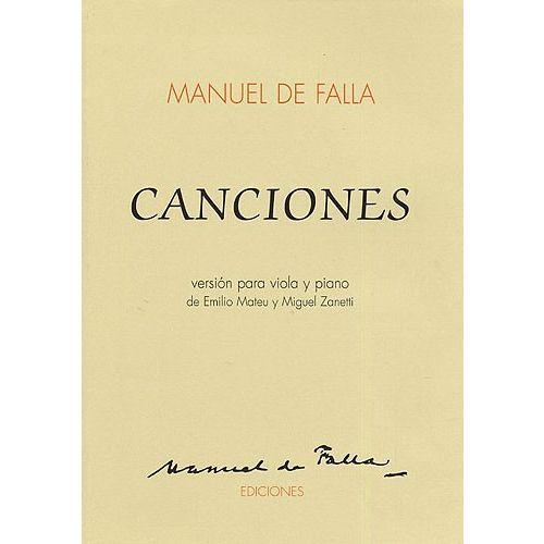 MUSIC SALES MANUEL DE FALLA - CANCIONES - VIOLA