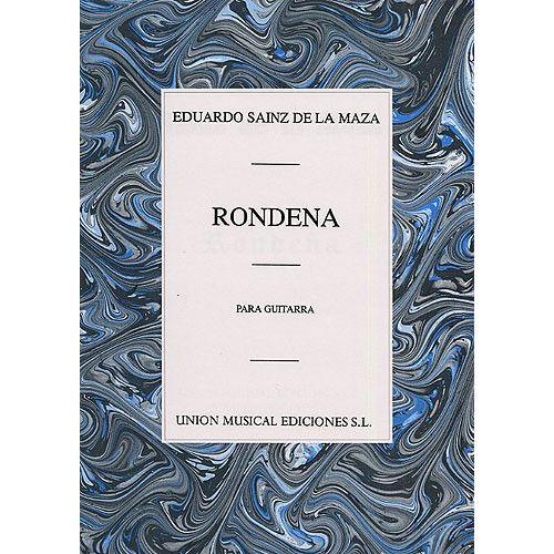 UME (UNION MUSICAL EDICIONES) EDUARDO SAINZ DE LA MAZA RONDENA FOR GUITAR - GUITAR