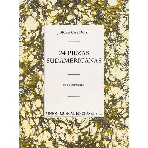 UME (UNION MUSICAL EDICIONES) JORGE CARDOSO 24 PIEZAS SUDAMERICANAS - GUITAR