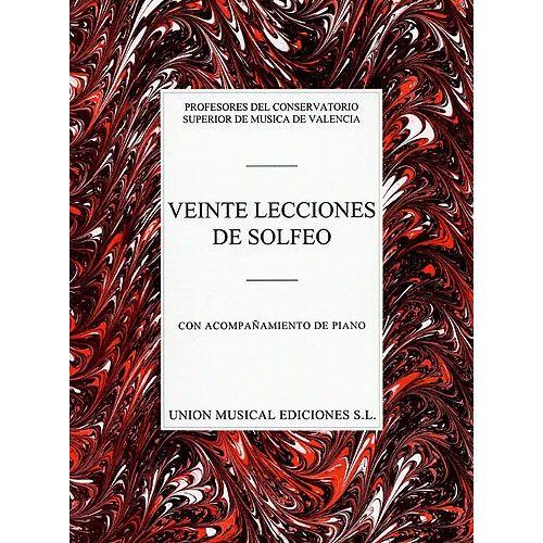 UME (UNION MUSICAL EDICIONES) VARIOS VEINTE LECCIONES DE SOLFEO - VOICE
