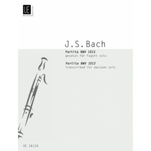 UNIVERSAL EDITION BACH J. S. - PARTITA BWV 1013 - BASSON