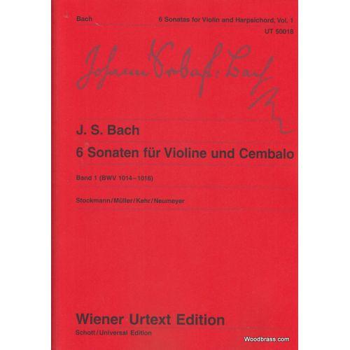 WIENER URTEXT EDITION BACH J. S. - 6 SONATEN (VOL. 1) - VIOLON ET CLAVECIN (PIANO)