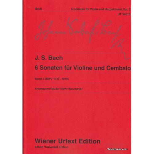 WIENER URTEXT EDITION BACH J. S. - 6 SONATEN (VOL. 2) - VIOLON ET PIANO