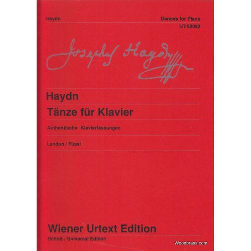 WIENER URTEXT EDITION HAYDN JOSEPH - DANCES FOR PIANO