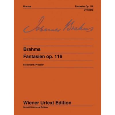 WIENER URTEXT EDITION BRAHMS J. - FANTASIES OP.116 - PIANO