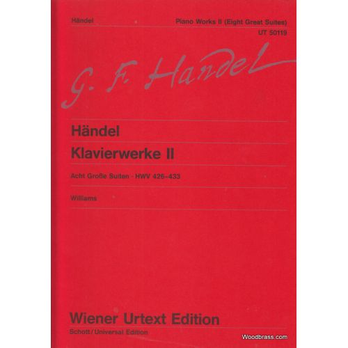 WIENER URTEXT EDITION HAENDEL G.F. - KEYBOARD WORKS BAND 2 - PIANO