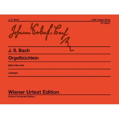 WIENER URTEXT EDITION BACH J.S. - LITTLE ORGAN BOOK BWV 599-644 - ORGAN