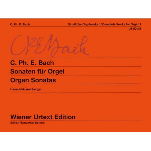 WIENER URTEXT EDITION BACH C.P.E - COMPLETE WORKS FOR ORGAN BAND 1 - ORGAN