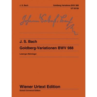 WIENER URTEXT EDITION BACH J.S. - GOLDBERG VARIATIONS - PIANO