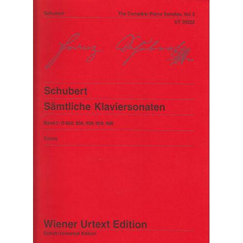 WIENER URTEXT EDITION SCHUBERT F. - SAMTLICHE KLAVIERSONATEN VOL. 3