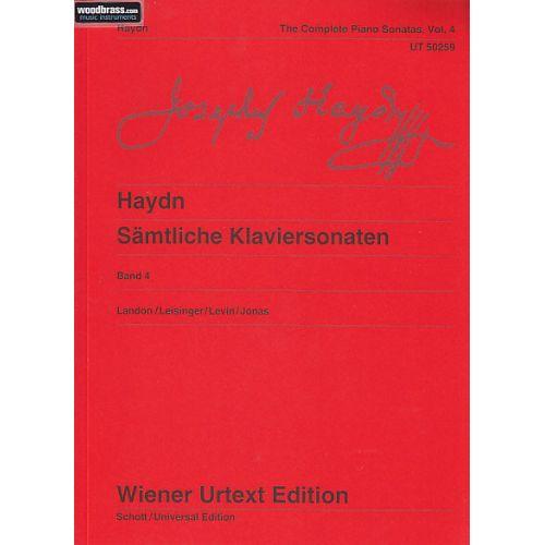 WIENER URTEXT EDITION HAYDN JOSEPH - SÄMTLICHE KLAVIERSONATEN BAND 4