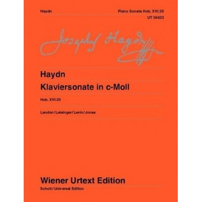 UNIVERSAL EDITION HAYDN J. - KLAVIERSONATE IN C-MOLL HOB. XVI:20 - PIANO