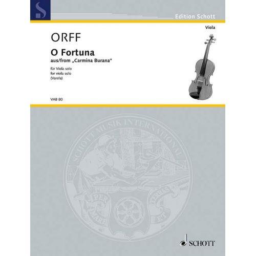 SCHOTT ORFF C. - O FORTUNA - ALTO