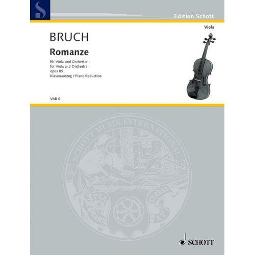 SCHOTT BRUCH MAX - ROMANCE F MAJOR OP.85 - VIOLA AND ORCHESTRA