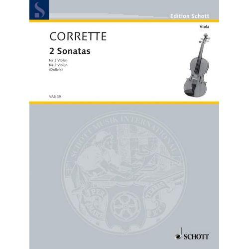 SCHOTT CORRETTE MICHEL - TWO SONATAS AND A MINUET - 2 VIOLAS