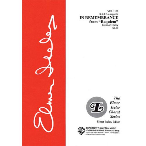 ALFRED PUBLISHING DALEY ELEANOR - IN REMEMBRANCE FROM REQUIEM - MIXED VOICES SATB