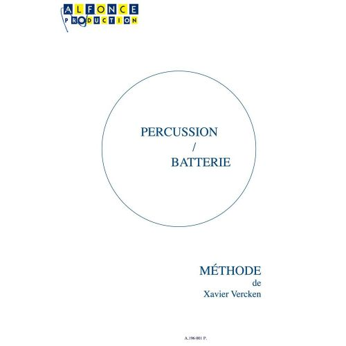 ALFONCE PRODUCTION VERCKEN XAVIER - PERCUSSION BATTERIE