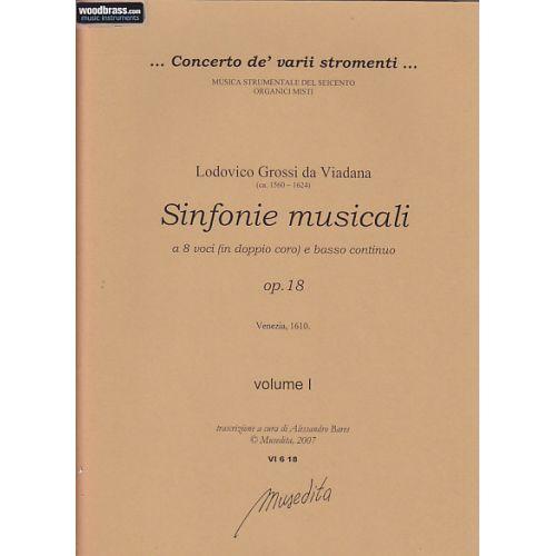 MUSEDITA VIADANA LUDOVICO GROSSI (DA) - SINFONIE MUSICALE OP. 18