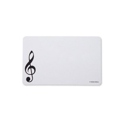 VIENNA WORLD CUTTING BOARD G-CLEF WHITE