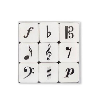 VIENNA WORLD BOX DE 9 MAGNETS - NOTES DE MUSIQUE