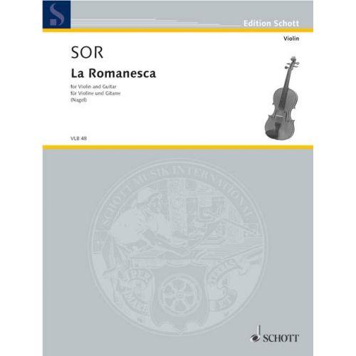 SCHOTT SOR FERNANDO - LA ROMANESCA - VIOLIN AND GUITAR