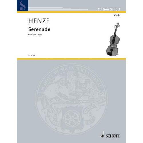 SCHOTT HENZE HANS WERNER - SERENADE - VIOLIN