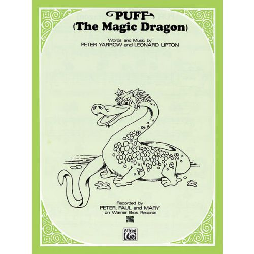 ALFRED PUBLISHING PETER PAUL AND MARY - PUFF THE MAGIC DRAGON - PVG